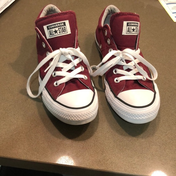 Converse Shoes   Red Converse Lace Up